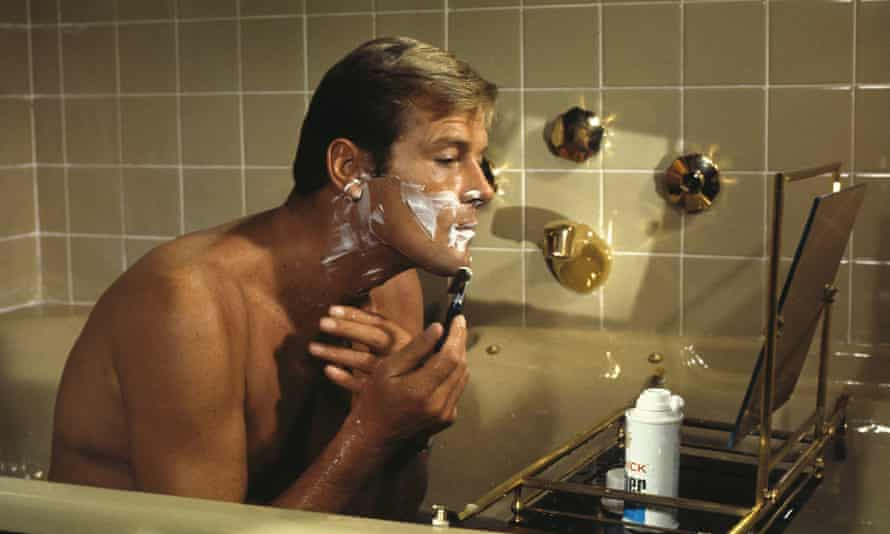 Roger Moore in Live and Let Die.