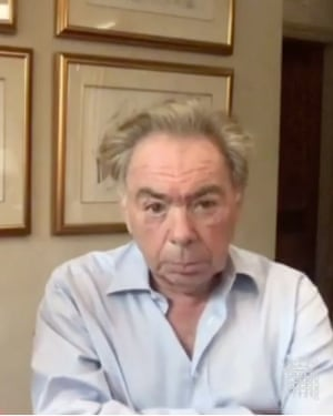 Andrew Lloyd Webber giving evidence to the Commons culture committee this morning.