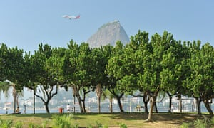 Flamengo park and the Sugar Loaf mountain.