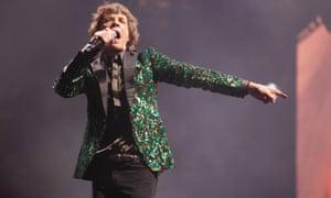 Mick Jagger at Glastonbury in 2013. Saturday 29 June.