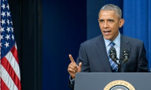 Obama Remarks on the 50th Anniversary of the Voting Rights Act<br>06 Aug 2015, Washington, DC, USA --- United States President Barack Obama makes remarks at a session hosted by the White House Office of Public Engagement on strengthening and protecting the right to vote at the White House in Washington, DC on Thursday, August 6, 2015. The event was attended by civil rights leaders, faith leaders, voting rights activists and state and local officials. Credit: Ron Sachs / Pool via CNP - NO WIRE SERVICE - --- Image by © Ron Sachs/dpa/Corbis