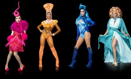 RuPaul's Drag Race's 2017 finalists, from left: Sasha Velour, Shea Coulee, Trinity Taylor and Peppermint.