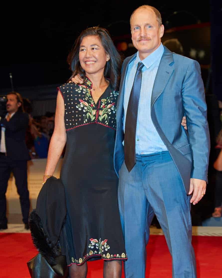 Love interest: Woody with his wife Laura Louie at the Three Billboards Outside Ebbing, Missouri première, Venice, September 2017.