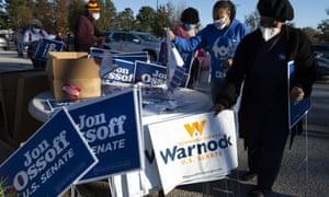 Jon Ossoff and Raphael Warnock campaign together in Georgia