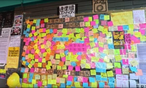The pro-Hong Kong Lennon wall at the University of Queensland