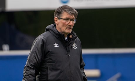 Luton assistant manager Mick Harford undergoing prostate cancer treatment