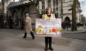 Julie Daniels outside the Royal Courts of Justice.