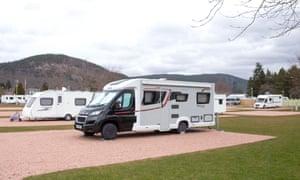 Ballater caravan park in Balmoral, Scotland, was still open on 21 March