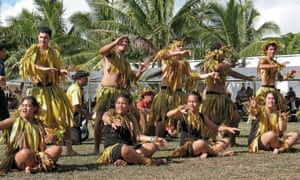 Niuan dancers perform at a summit for Pacific leaders.