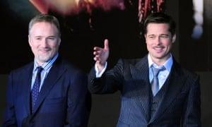 David Fincher and Brad Pitt in 2009.