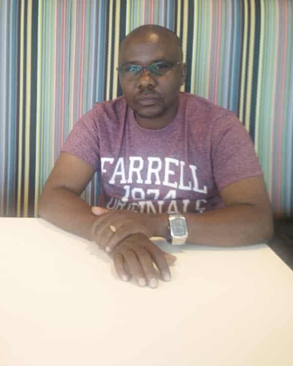 Kaggwa visiting the Guardian.