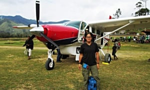 woman plane propeller