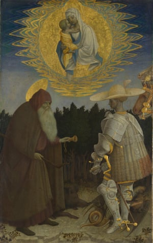 The Virgin and Child With Saints, circa 1435-41, by Pisanello