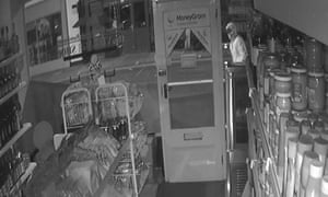 CCTV footage of the night of the arson attack on The Village Shop in Norwich.