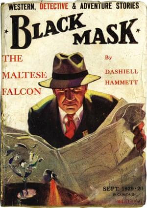 Black Mask Magazine from September 1929, featuring Hammett's The Maltese Falcon.