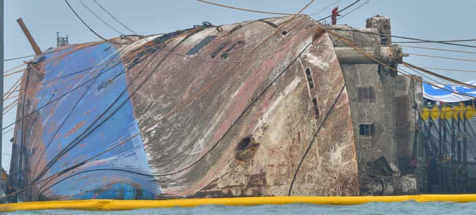 The sunken ferry Sewol