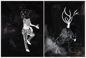 Tanya Chaitow b. 1957, Johannesburg, South Africa Lives and works Sydney Frame of mind (1 and 2) 2018 conté crayon, charcoal, gouache, collage on paper two parts: 130 x 92 cm (each) Courtesy the artist and Stella Downer Fine Art, Sydney Photographer credit: Alex Barnes-Keoghan