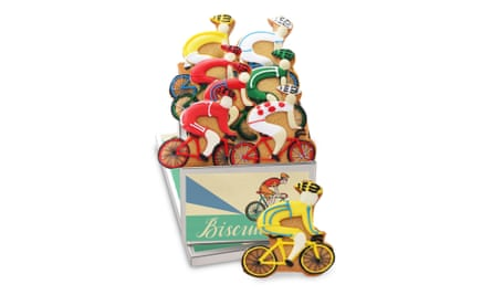 Hand decorated cyclist biscuit box, £32.50biscuiteers.com