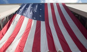 National Museum of American History<br>epa04881492 A large US national flag hangs over the entrance of the National Museum of American History in Washington, DC, USA, 12 August 2015. EPA/MICHAEL REYNOLDS