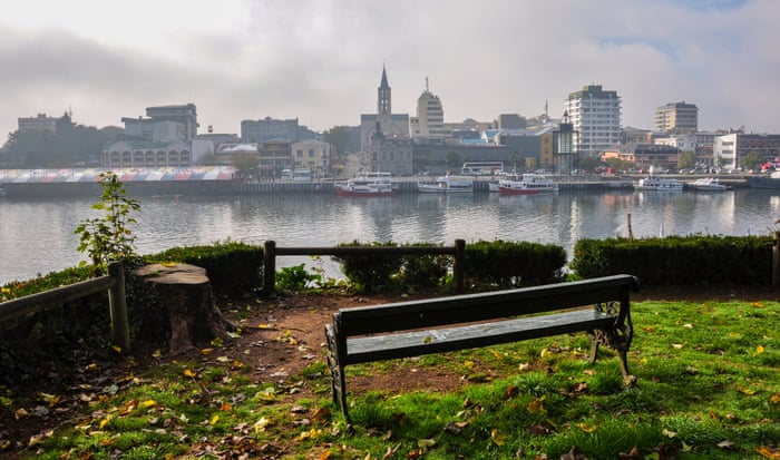 A view of Valdivia from across the Cruces river.