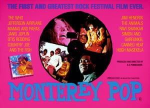 Humping Hendrix … the poster for Monterey Pop, the documentary featuring 1967 festival acts Janis Joplin, Jimi Hendrix, Otis Redding and the Who.
