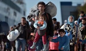 Refugees arriving in the Greek port of Piraeus last year.