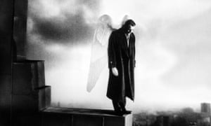 Bruno Ganz as angel Damiel in Wim Wender's Wings of Desire, 1987