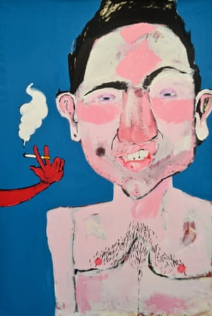 """Samuel Eyles: """"Revelling momentarily in narcissism I felt I needed a more direct signature to my on-going project 'Sexy Munters'. So I decided to create a dirty punk caricature of myself, something garish and unforgiving with a devilish arm of looming temptation.""""email - samueleyles@outlook.comhttps://witness.theguardian.com/user/samueleyles"""