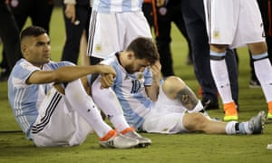 Lionel Messi contemplates another painful defeat in a Copa América final