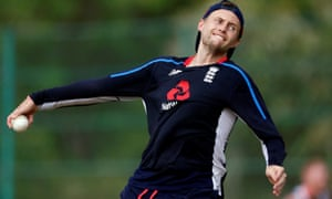 England's Joe Root bowls during a practice session ahead of their second one-day international against Sri Lanka