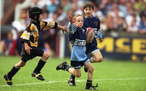 Children playing Rugby League.