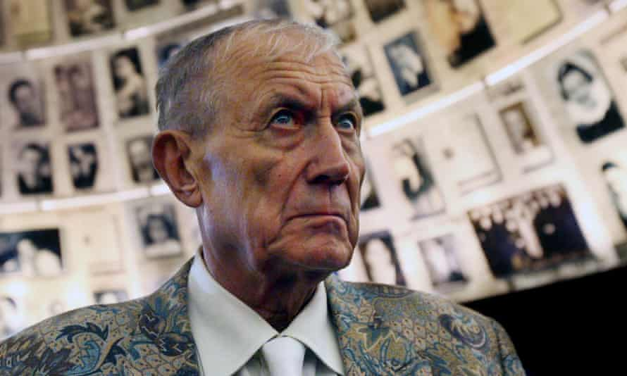 Yevtushenko at the Yad Vashem museum of the Holocaust in Jerusalem, 2007. His poem Babi Yar, which brought him fame in 1961, sprang from the second world war Nazi massacre at a ravine near Kiev.