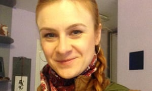 The alleged Russian agent Maria Butina in an undated photo from her Twitter account.