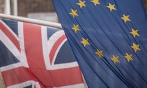 EU and EU flags.