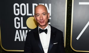 Jeff Bezos, Amazon founder, arrives at the 75th annual Golden Globe awards