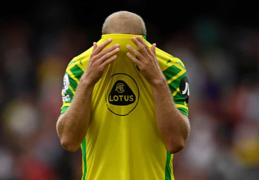 Teemu Pukki after the defeat at Arsenal.