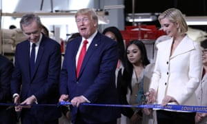 Donald Trump last week opens a new Louis Vuitton factory in Texas with Bernard Arnault, the chief executive of LVMH, and Ivanka Trump.
