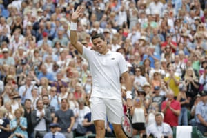 Milos Raonic soaks up the well deserved applause.