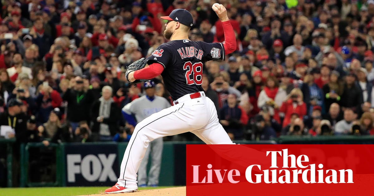 78cb465ca World Series 2016 Game 1: Chicago Cubs v Cleveland Indians – as it happened