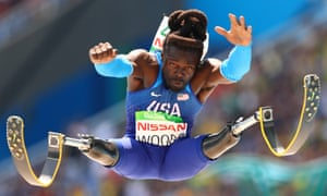 Rio Paralympics - Day 10RIO DE JANEIRO, BRAZIL - SEPTEMBER 17: Regas Woods of United States competes in the Men's Long Jump - T42 final during day 10 of the Rio 2016 Paralympic Games at the Olympic Stadium on September 17, 2016 in Rio de Janeiro, Brazil. (Photo by Lucas Uebel/Getty Images)