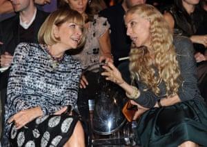 Anna Wintour and Franca Sozzani in Milan in 2010.