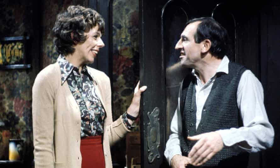 'My front tyre needs pumping up' … Frances de la Tour as Miss Jones and Leonard Rossiter as Rigsby.