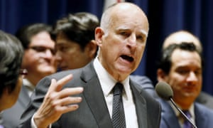 Governor Jerry Brown treated attempts by Rick Perry of Texas to woo businesses from California with disdain.