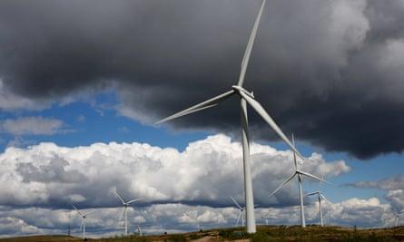 An onshore windfarm