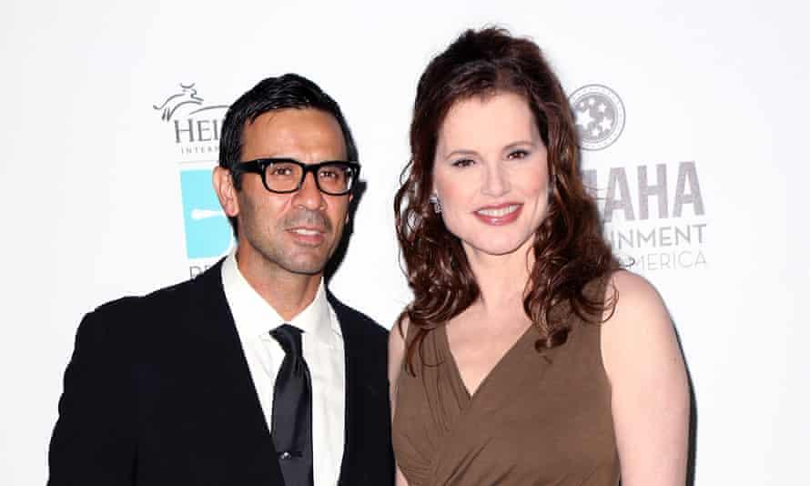 Geena Davis and husband Reza Jarrahy in 2013.