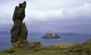Little Skelling as pictured from Skellig Michael.