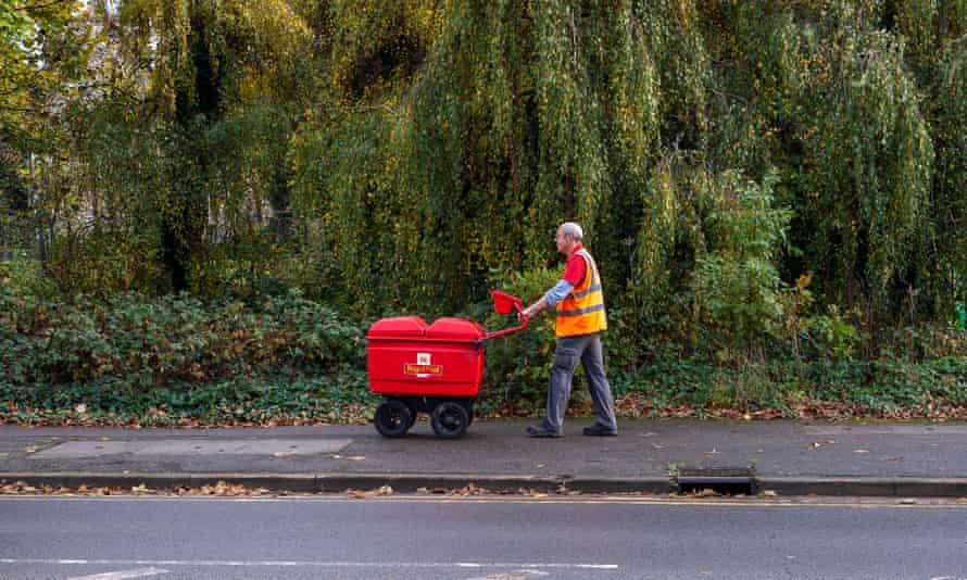 A Royal Mail delivery worker in Slough
