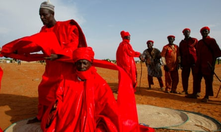 The Durbar festival in Sokoto, Nigeria, an annual event that that features prayers, music players and a military parade.