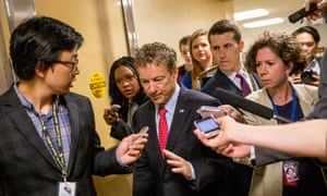 Senator Rand Paul, centre, has led congressional opposition to the NSA surveillance dragnet.
