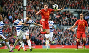Jamie Carragher in action for Liverpool against QPR in May 2013 during his playing days.